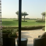 The junior suites offer a garden terrace overlooking the golf course