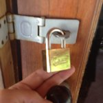 The lock that we had to request. Otherwise your hut stays open to all