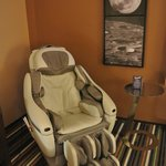 massage chair in room