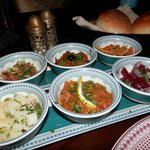 Dishes in the Agadir restaurant (Moroccan cuisine)