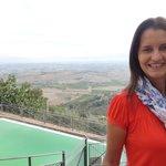 Piscina também com vista para os campos da Toscana