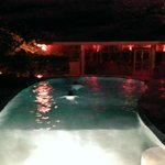 pool house at night