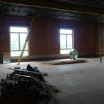 what the lofts space looked like before construction