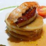 Foie gras mille-feuille (dunno in Spanish)