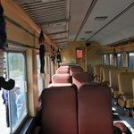 Inside rail car