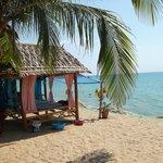 Massage Hut next to resort