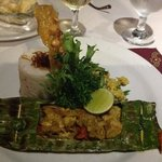 fish wrapped in banana leaves...yum