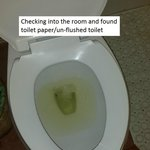 Checking in - Toilet paper and un-flushed