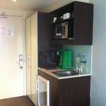 Kitchenette area from the room door