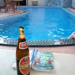 Pool side beer