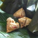 chicken in banana leaf