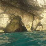 caves and swimming during sunset catamaran curise