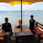 Stopping off at the Moorea Beach Cafe.