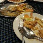 Fish Thali and Butter Garlic Prawn