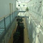 Le quatrième étage, à droite les chambres à 180 pesos