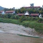 le pakbeng lodge vu du fleuve
