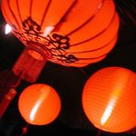 At night look for 5 Chinese Red Lanterns out Front
