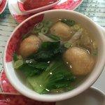 soupe avec boulette de poisson