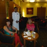 Mr Taraknath with two us in the 'Club Lounge'