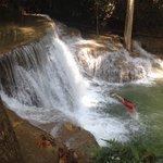 An den Wasserfällen im Nationalpark