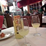 Limoncello which was offered to us on the house!