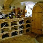 The hotel's plentiful wine cellar.