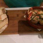 Garlic butter prawns