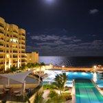 Full moon over the resort