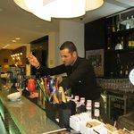 Armondo preparing a cocktail