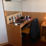 room 767 desk area, tiny space
