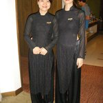 Charming hostesses Hoa-right- and Huong-left