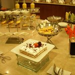 buffet snacks in executive lounge