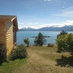 Vista al Lago General Carrera desde Cabaña