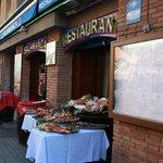 Puerta de entrada al Restaurant Salamanca