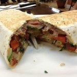Delicious vegetarian burrito