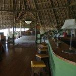 The bar area!
