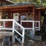 Cabana is under a huge shady tree,