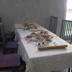 food left on tables