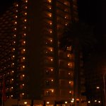 Hotel Outside at Night