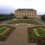 Schonbrunn Castle - view of gardens to east of Palace