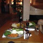 L'entrée... des légumes délicieux !!!