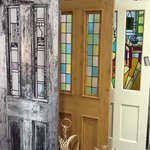 Traditionally made Stained Glass Doors