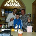 Hani ( barman) Scott and Liam