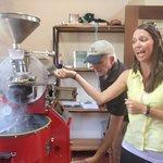 Roasting coffee beans!