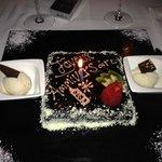 Un gâteau pour l'anniversaire de mon conjoint (leur idée)