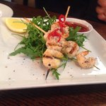 The grilled prawn skewers! Very appetising!