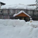 The Hotel after heavy snow
