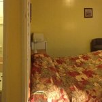 Panorama of motel room