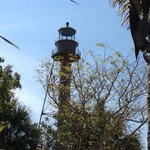 Sanibel Lighthouse through the trees.