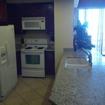 Kitchen of room A206... great for anyone traveling with a group!
